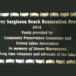 Memorial Plaque to Steve Marranzini Unveiled at Sargisson Beach
