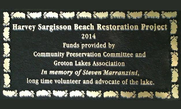 Memorial Plaque to Steve Marranzini Unveiled at Sargisson Beach